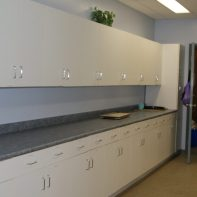 Cupboards & counter