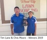 2019 Mixed Pairs winners