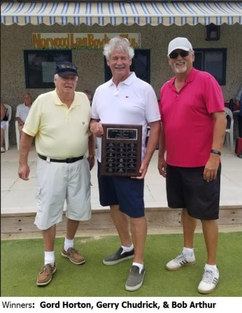 2019 Senior Men's Triples win