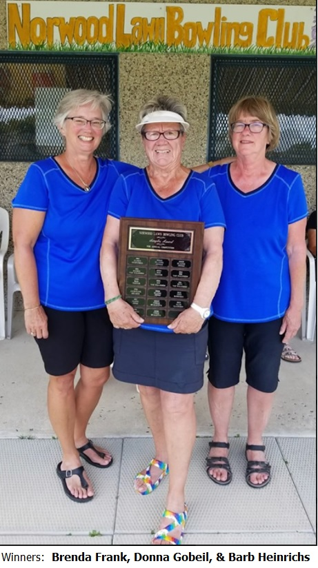 2019 Senior Women's Triples win