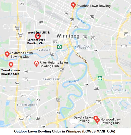 Outdoor Winnipeg Clubs Map