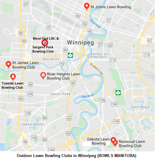 Outdoor Winnipeg Clubs Map