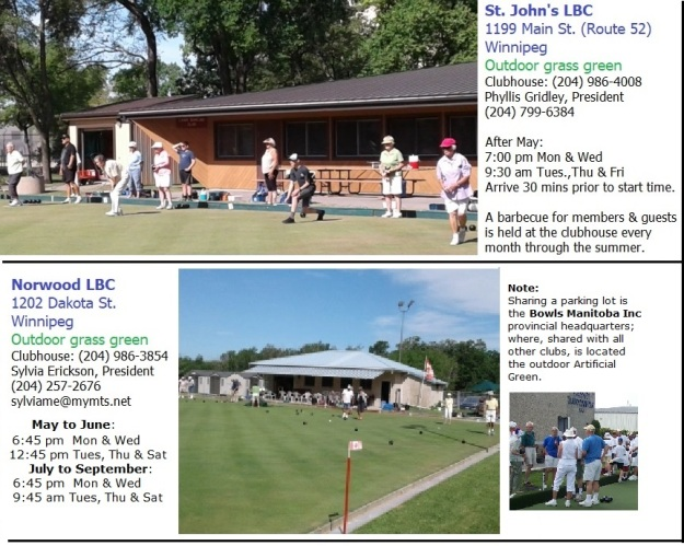 suggested change for 'Bowls Clubs' page